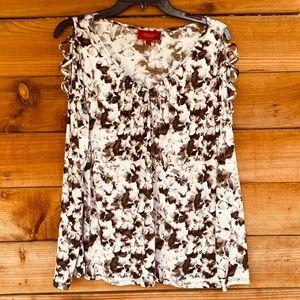 Jennifer Lopez V-Neck arm peekaboo blouse
